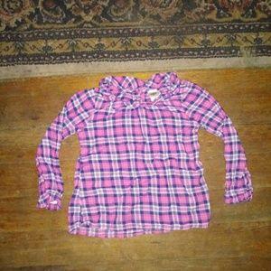 Girls OshKosh Plad Long Sleeve 4T